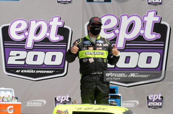 Matt Crafton secures playoff spot with a win in the NASCAR Gander RV & Outdoors Truck Series e.p.t. 200 on Saturday, July 25th at Kansas Speedway.