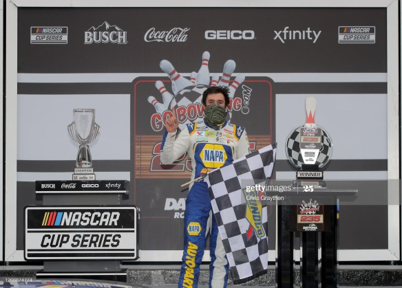 Elliott holds off Hamlin to win the NASCAR Cup Series Go Bowling 235 on the series' inaugural race on the Daytona Road Course at Daytona International Speedway.