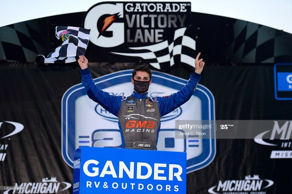 Zane Smith's thrilling victory in the NASCAR Gander RV & Outdoors Truck Series Henry Ford Health System 200 at Michigan International Speedway was his first series win.