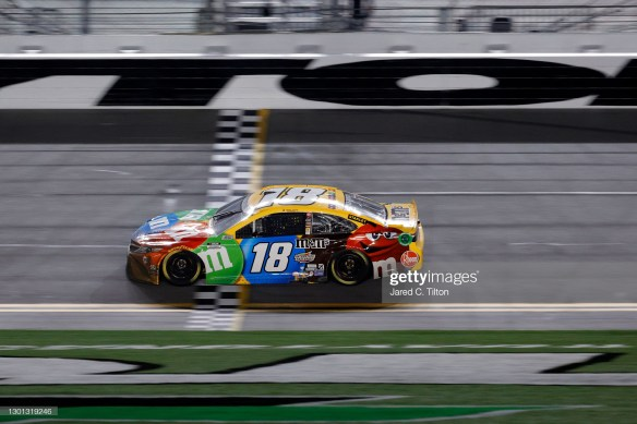 Kyle Busch steals Clash win in the NASCAR Cup Series Busch Clash on the Daytona Road Course on Tuesday night.