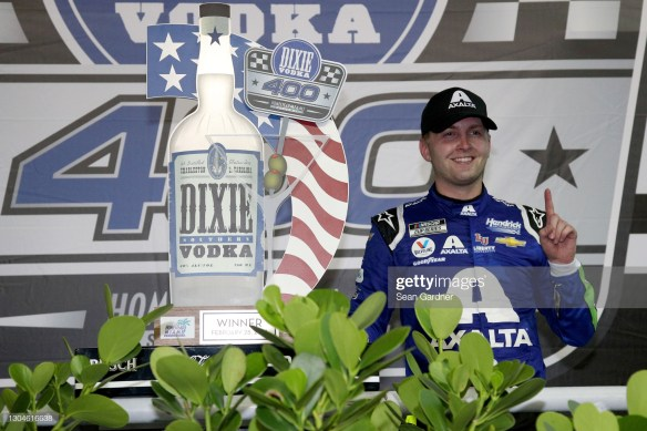 William Byron cruises to victory in the NASCAR Cup Series Dixie Vodka 400 on Sunday night at Homestead-Miami Speedway.