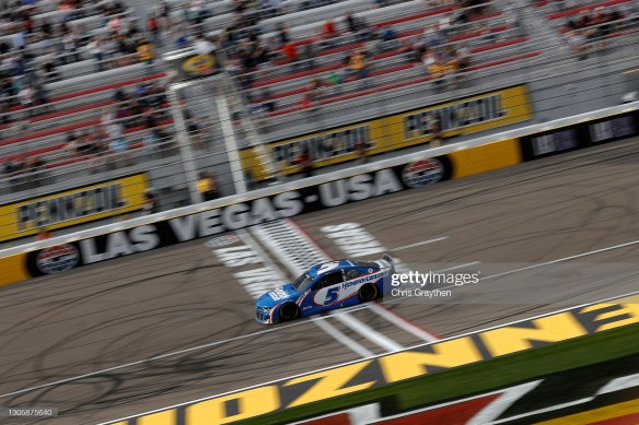 Kyle Larson conquers Las Vegas in the NASCAR Cup Series Pennzoil 400 presented by Jiffy Lube on Sunday afternoon at Las Vegas Motor Speedway.