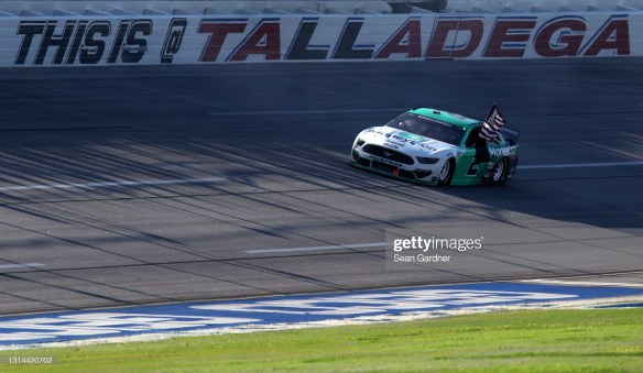 Brad Keselowski adds to his Talladega win count with another victory in the NASCAR Cup Series Geico 500 at Alabama track on Sunday.