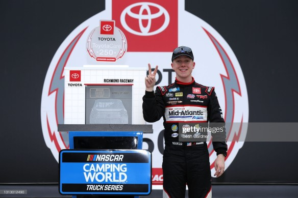John Hunter Nemechek leads KBM's one-two-four finish at Richmond Raceway in the ToyotaCare 250 for the NASCAR Camping World Truck Series.