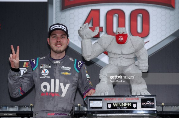 Alex Bowman leads HMS sweep of top four positions at Dover International Speedway in the NASCAR Cup Series Drydene 400 on Sunday afternoon.
