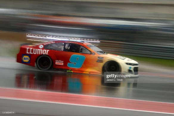Chase Elliott wins the first-ever NASCAR Cup Series Grand Prix at COTA in Austin, Texas in a weather-shorten race on Sunday afternoon.