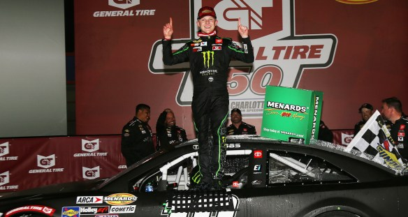 Ty Gibbs wins the General Tire 150 to complete a Charlotte Sweep in the ARCA Menards Series on Saturday night at Charlotte Motor Speedway.