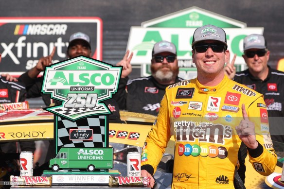 Kyle Busch wins for 99th time in NASCAR Xfinity Seriesin the Alsco Uniforms 250 at Texas Motor Speedway on Saturday evening.