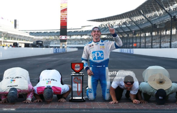 Austin Cindric fulfills dream with a win at the Indy Road Course in the Xfinity Series Pennzoil 150 on Saturday afternoon.