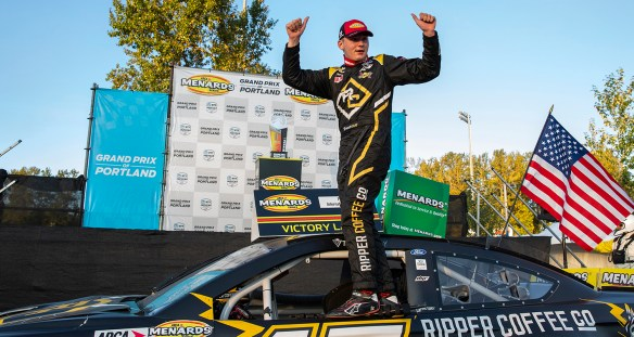 Taylor Gray is credited with a win after Portland penalties to Jake Drew and Eric Nascimento in the ARCA Menards Series Portland 112.