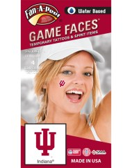 CH-28-R_Fr - Indiana University (IU) Hoosiers - Water Based Temporary Spirit Tattoos - 4-Piece - Crimson IU Logo