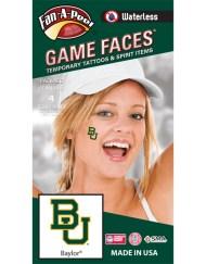 W-CF-40_Fr - Baylor University Bears - Waterless Peel & Stick Temporary Spirit Tattoos - 4-Piece - Green/Gold BU Logo