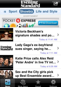 london evening standard for iPhone