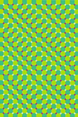 Green Dots Optical Illusion, ThemeMyPhone.com