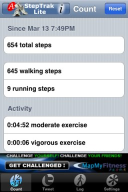 StepTrackLite iPhone App Review