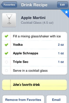 idrink iphone app review