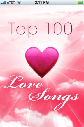 Love Songs  - 100 greatest of All Time iPhone App Review