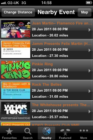 Clubbillboard iPhone app