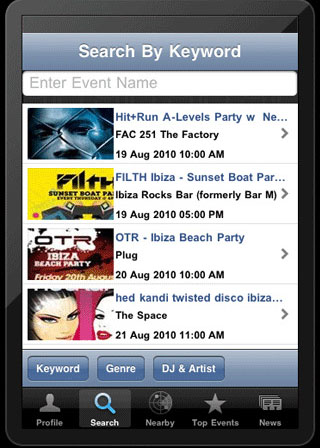 Clubbillboard iphone app review