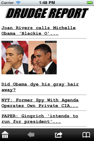 drudge report app for iphone