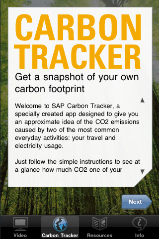 carbon tracker iphone app review