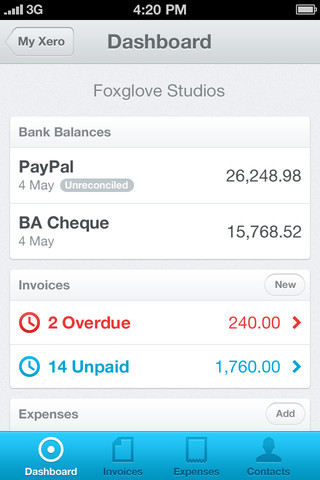 Xero iPhone App Review