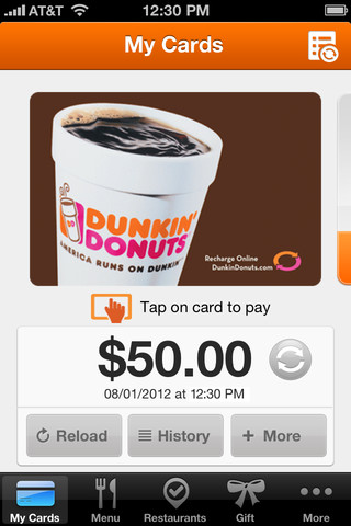 Dunkin Donuts iPhone App Review