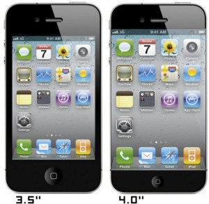 screen size of iPhone 5