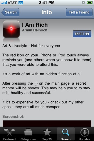 I Am Rich iPhone App Review