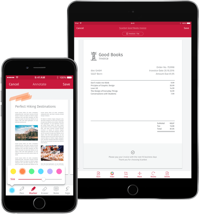 Go Paper Free With The Ultimate Scanning App Scanbot Fanappiccom - Invoice scanning app