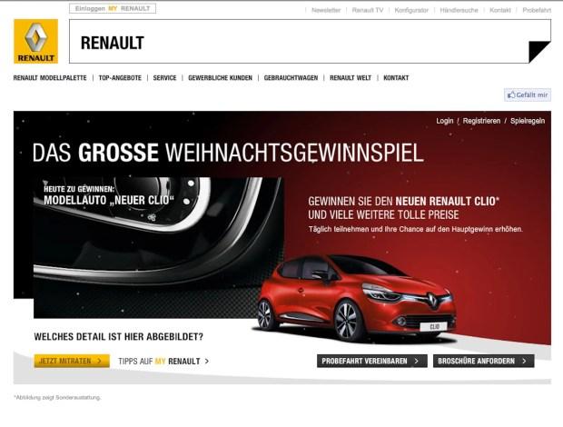 Renault Clio Weihnachtsspiel - Fanaticar Magazin