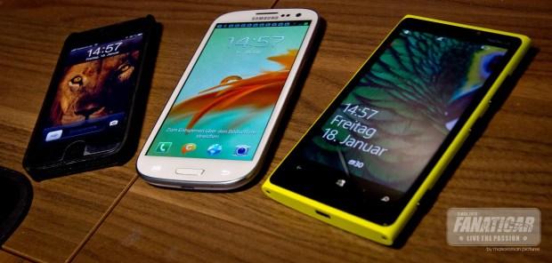 Apple iPhone 5, Samsung Galaxy S3, Nokia Lumia 920 - Fanaticar Magazin