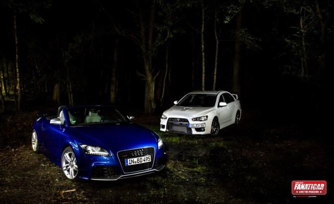 2013 Audi TTRS Roadster & Mitsubishi Lancer EVO X - Fanaticar