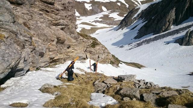 Esqui de travesia pico Portalet