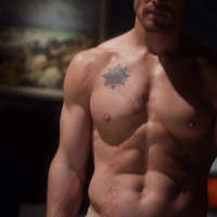"Stephen Amell as Oliver Queen/Arrow shirtless in Arrow 1x01 ""Pilot"""