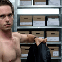 "Patrick J. Adams as Mike Ross shirtless in Suits 1x10 ""The Shelf Life"""