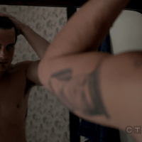 "Nico Tortorella as Jacob Wells/Will Wilson and Adan Canto as Paul Torres/Billy Thomas shirtless in The Following 1x05 ""The Siege"""