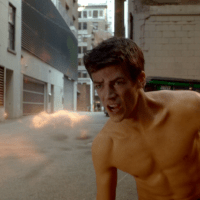 "Grant Gustin as Barry Allen/Flash shirtless in The Flash 1×05 ""Plastique"""