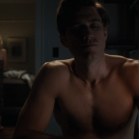 "Aaron Tveit as Gareth Ritter shirtless in BrainDead 1x04 ""Wake Up Grassroots: The Nine Virtues of Participatory Democracy, and How We Can Keep America Great by Encouraging an Informed Electorate"""