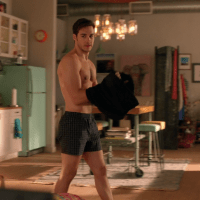 "Chris Wood as Mon-El shirtless in Supergirl 2x14 ""Homecoming"""