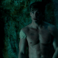 Chris Pine as Steve Trevor shirtless in Wonder Woman