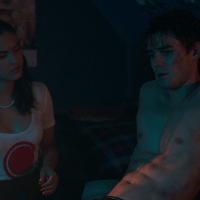 "KJ Apa as Archie Andrews shirtless in Riverdale 2x04 ""Chapter Seventeen: The Town That Dreaded Sundown"""