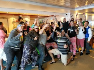 Deck 15 and our fifth bar on the AfterGLOW On-Board Pub Crawl. Photo by Brandon Harlow
