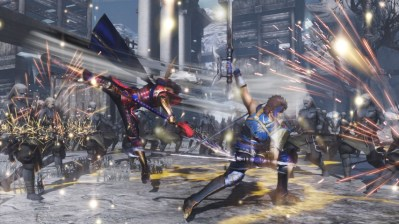 Warriors Orochi 4 Naomasa Ii and Yue Jin fighting together