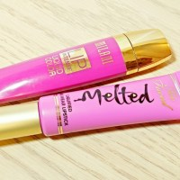 Too Faced Melted Violet Lipstick VS L.A. Girl Coy Glazed Lip Paint