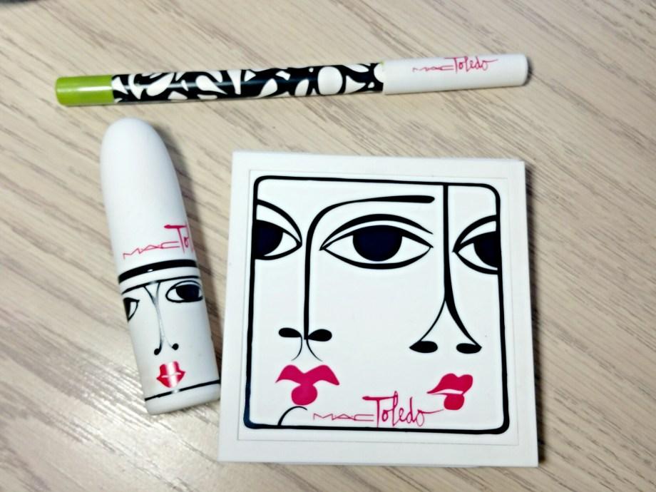 MAC Isabel & Ruben Toledo Chlorafill Pearlglide Eyeliner, Ripe Peach Blush and Oxblood Lipstick