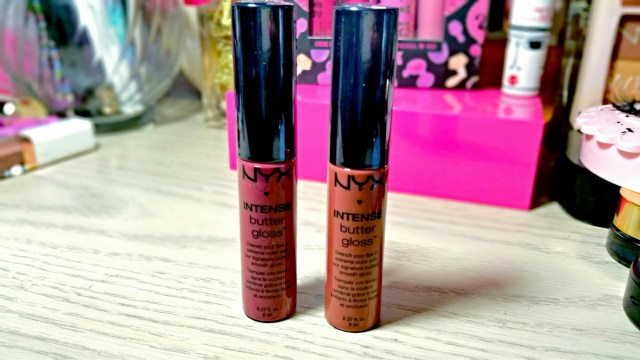 NYX Chocolate Crepe Intense Butter Gloss, NYX Toasted Marshmallow Intense Butter Gloss