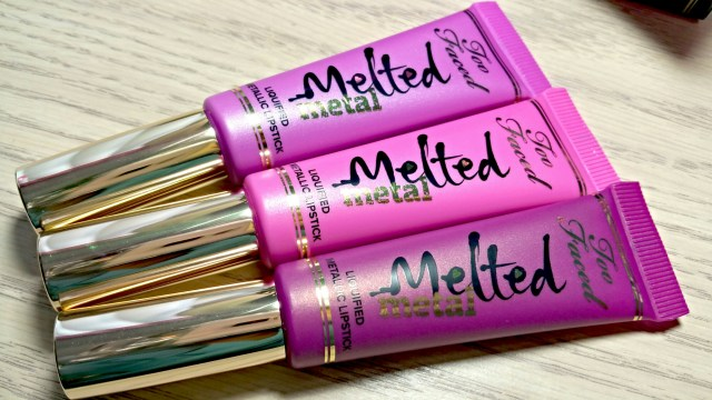 Too Faced Melted Metallic Jelly Melted Metallic Dream House Melted Metallic Violet Melted Metal Metallic Lipstick