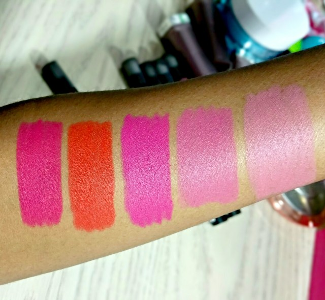 Maybelline 15 Berry Misbehaved, 20 Orange Ya Glad, 40 My-My Magenta, 45 I'm Blushing, 50 I Like to Mauve It Color Blur Cream Matte  Lip Pencil