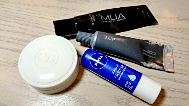 How to keep your lips moisturized under your matte lipstick: Dior Creme de Rose Smoothing Plumping Lip Balm, Nivea A Kiss of Moisture Essential Lip Care, Makeup Academy Sugar Lip Scrub, Bite Beauty Agave Lip Mask